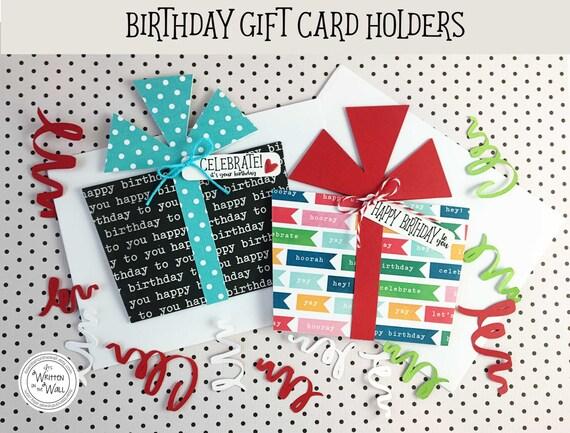Kits Celebrate Birthday Gift Card Holder Cash For Birthdays Etsy