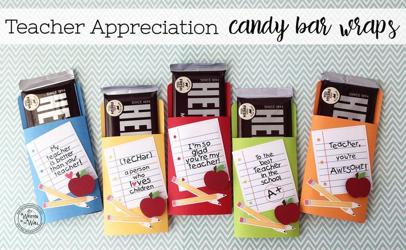 KIT Teacher Appreciation Candy Bar Wrappers Thank You Gift image 0