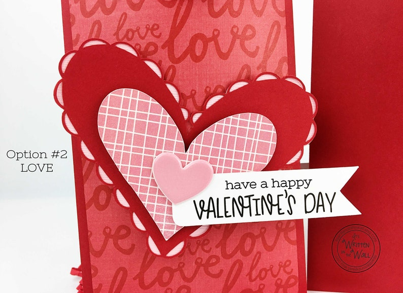 Kit Valentine Treat Bag Candy Card Heart Stickers Love image 0