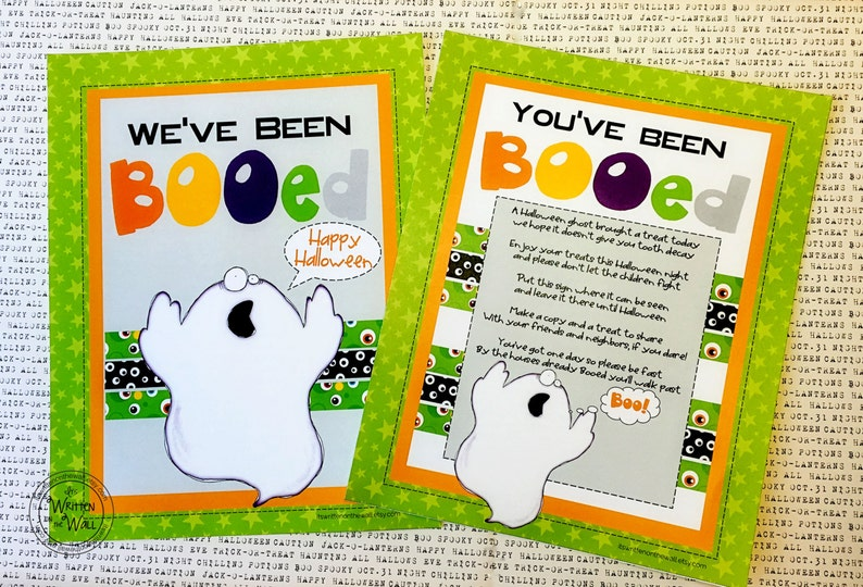 photograph regarding You've Been Booed Printable Pdf identify Youve been Booed Printable and 8 Halloween Tags Guidance for a Cute Take care of Holder