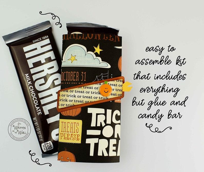 KIT Halloween Nightfall Candy Card Candy Bar Wraps Gifts image 0