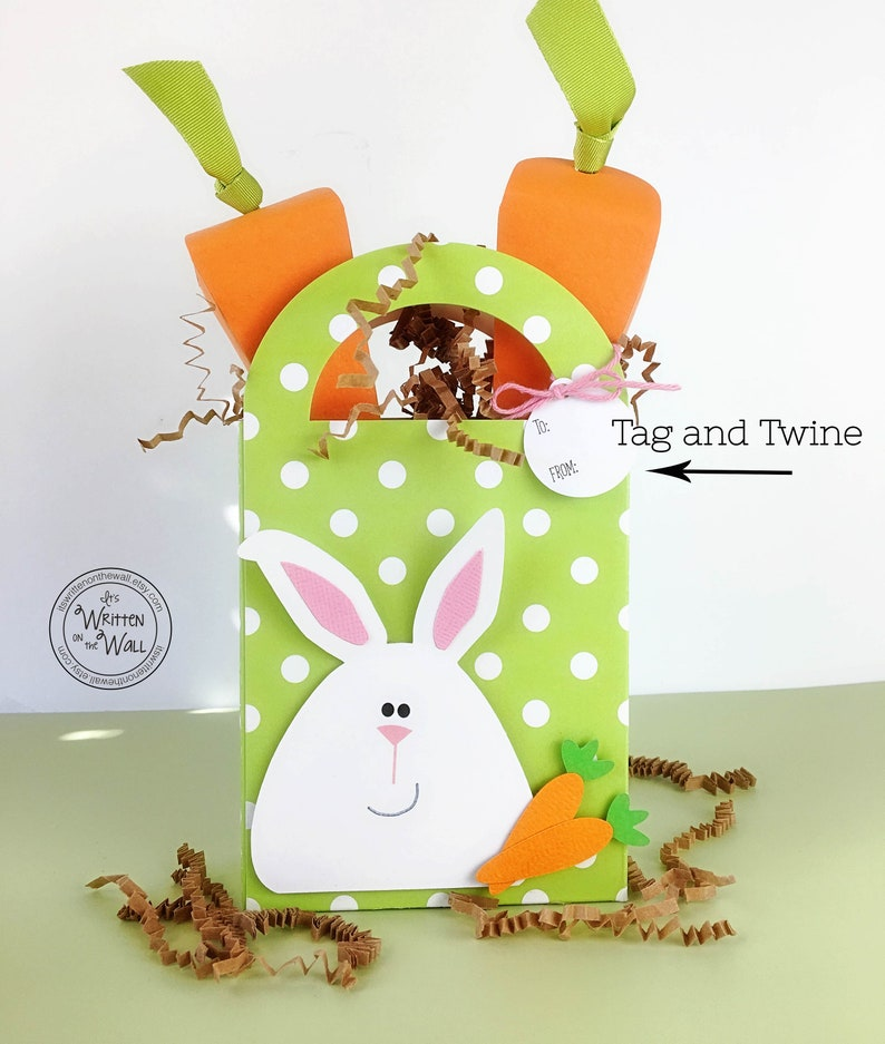 KIT Easter Carrot Treat Boxes /Bunny /Employee Gifts image 0