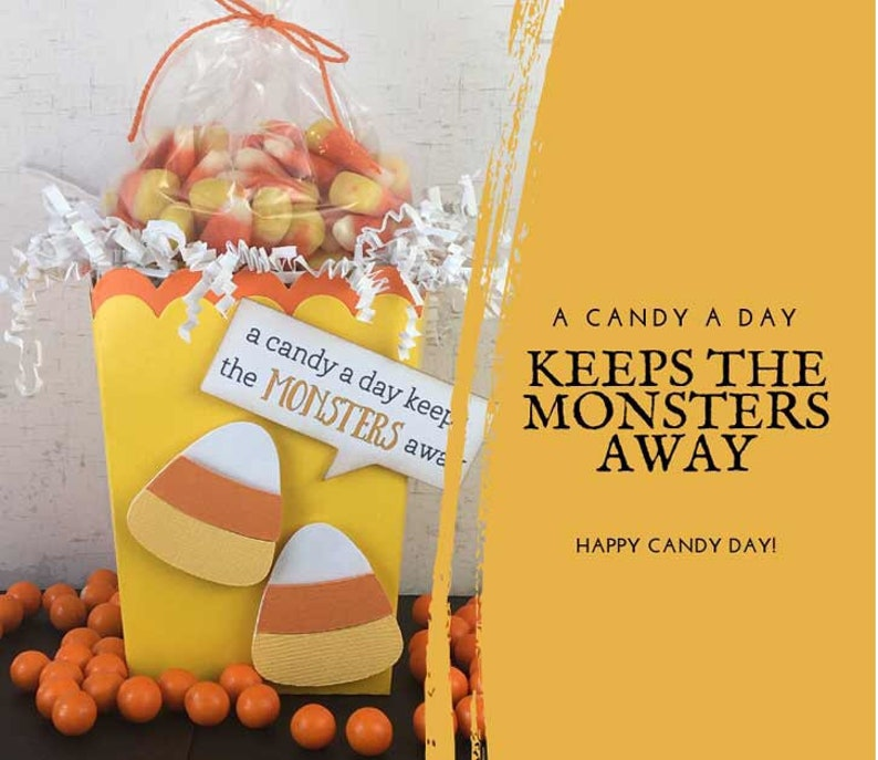 KITS  Candy Corn Treat Box / Party Favor / Classroom Treat / image 0