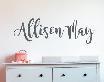 Nursery wall decal, Baby name wall decals, Girls wall decals, Personalized wall decals, Personalized name wall decor, Baby wall decals RB103