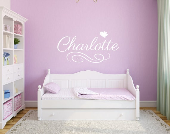 Monogram decals, Girls bedroom decor, Name wall decals, Personalized wall  decal stickers, Personalized baby gifts, Nursery wall decals DB233