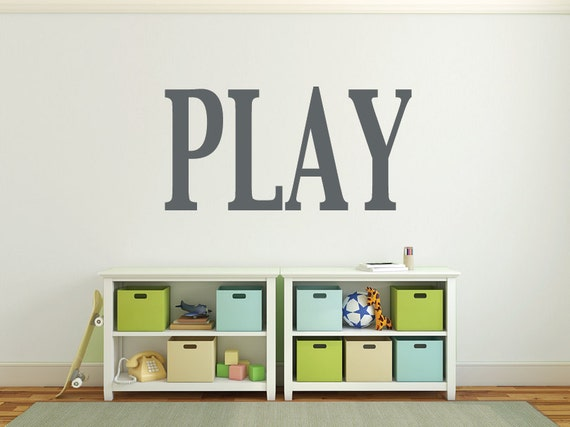 Wall letters Playroom wall decals Large wall letters for ...