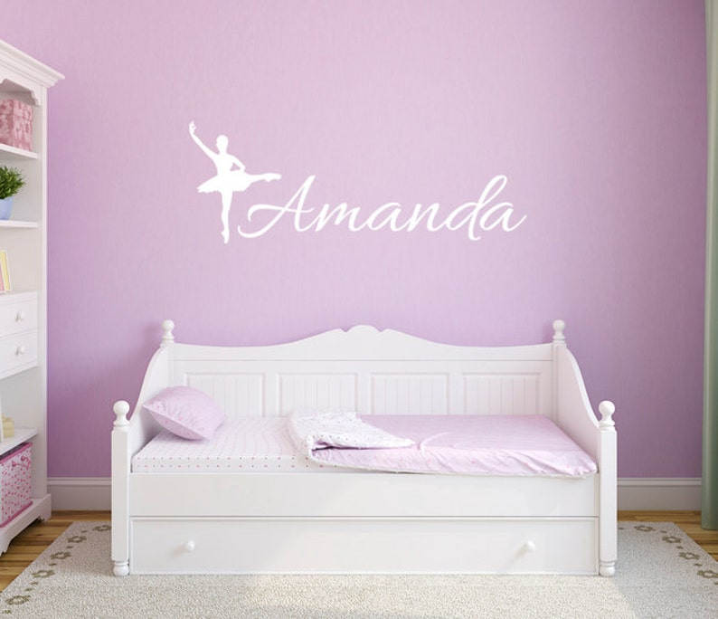 ballerina wall decals name decals personalized wall decals | etsy