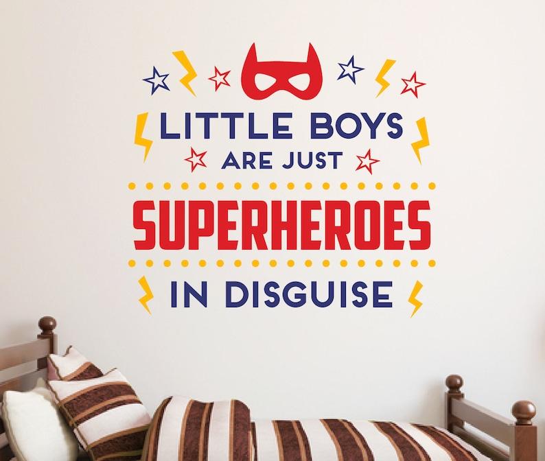 Jungs sind einfach Wandtattoo Superhelden Superhelden Zitat Aufkleber Boys  Room decor, Spielzimmer Wandtattoo, Wand Sprüche, Wand Kunst Zitat B448
