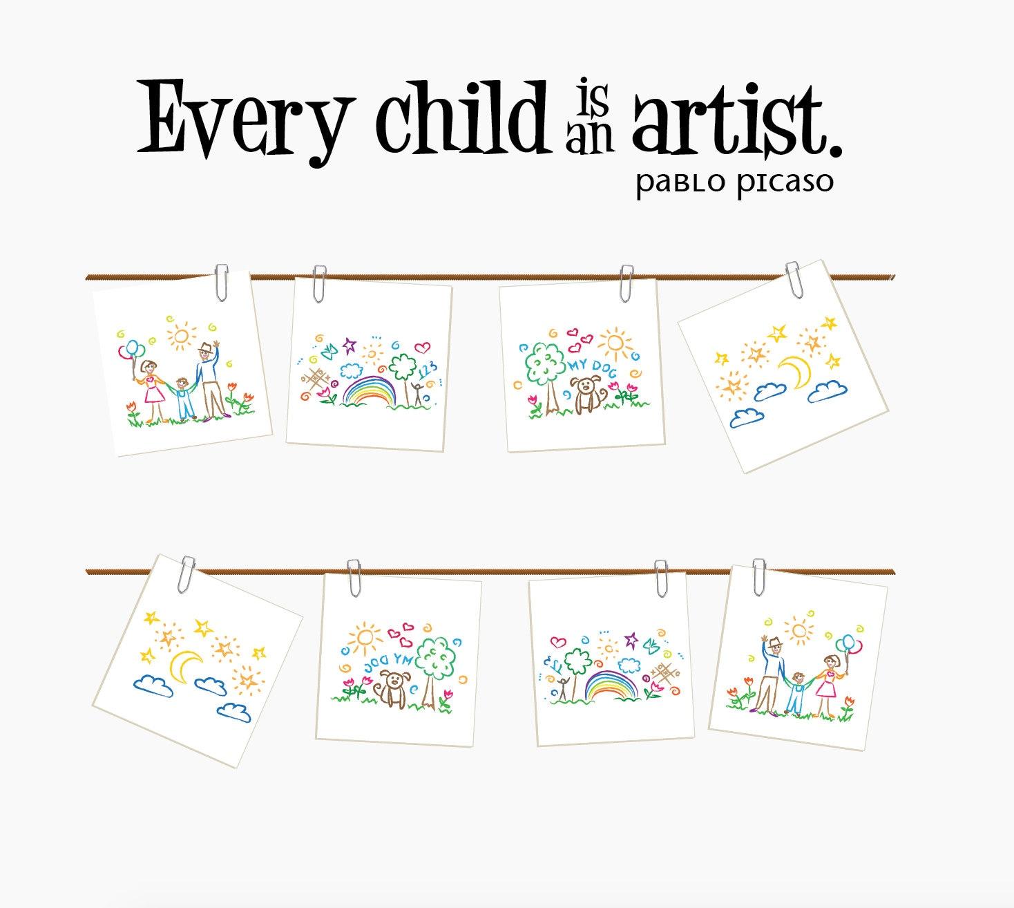 Jedes Kind ist ein Künstler-Wandtattoo Wandtattoo Art   Etsy