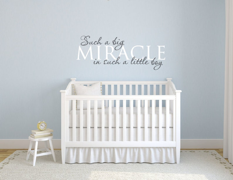 baby boy decals such a big miracle in such a tiny boy wall | etsy