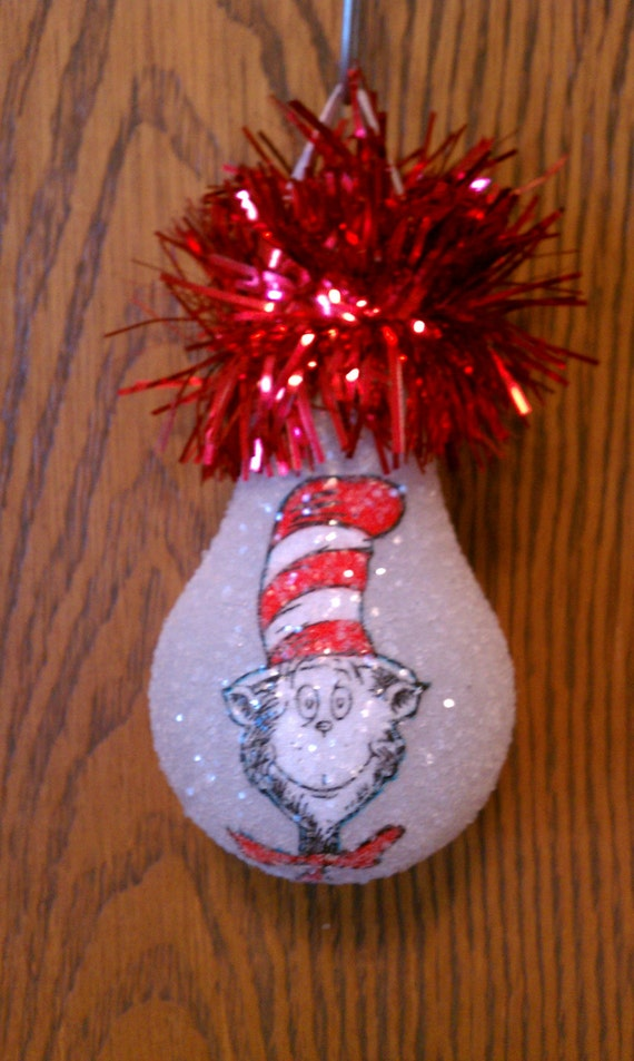 Dr Suess keepsake light bulb ornament