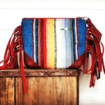 Wild Fire Keepsake Bag / Red Leather fringe Western Cowgirl cosmetic makeup Bag / Boho Cowgirl bag / Farmgirl Chic coin purse