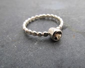 Birthstone Stacking Ring - Gemstone Ring - Bubble ring