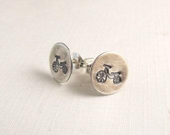 Bicycle Earrings - Bicycle Jewelry - Biker Earrings - retro