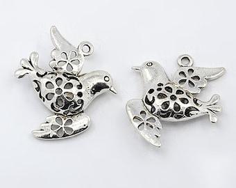 Decorative Dove Charm - Set of 5 - #HK1212