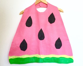 Watermelon Cape, Halloween Costume or Dress Up Cape