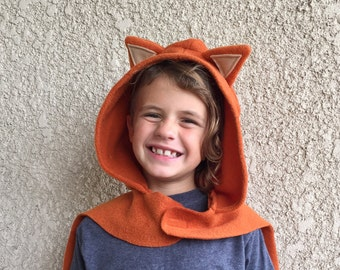 Fox Cape, Halloween Costume or Dress Up Cape
