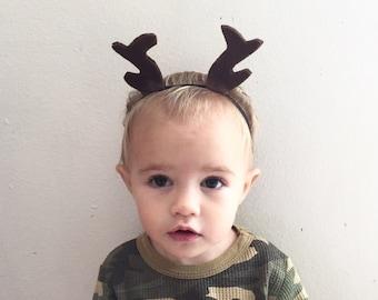 Antler Headband for Baby, Reindeer Headband for Baby