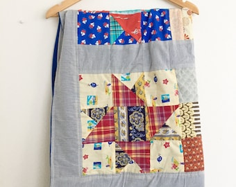 Nautical Patchwork Baby Quilt, Baby Quilt, Handmade Quilt, Nursery Decor, Baby Shower Gift