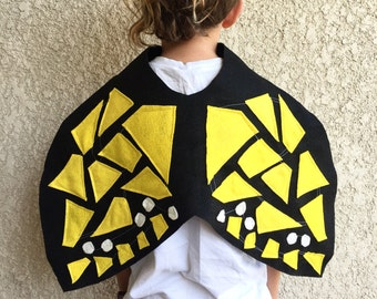Butterfly Cape, Kids Halloween Butterfly Costume, Monarch Butterfly Wings