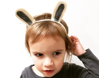 White Rabbit Headband for Baby and Toddlers