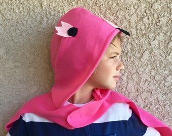 Flamingo Cape, Kids Halloween Bird Costume, Pink Flamingo Costume, Made to Order