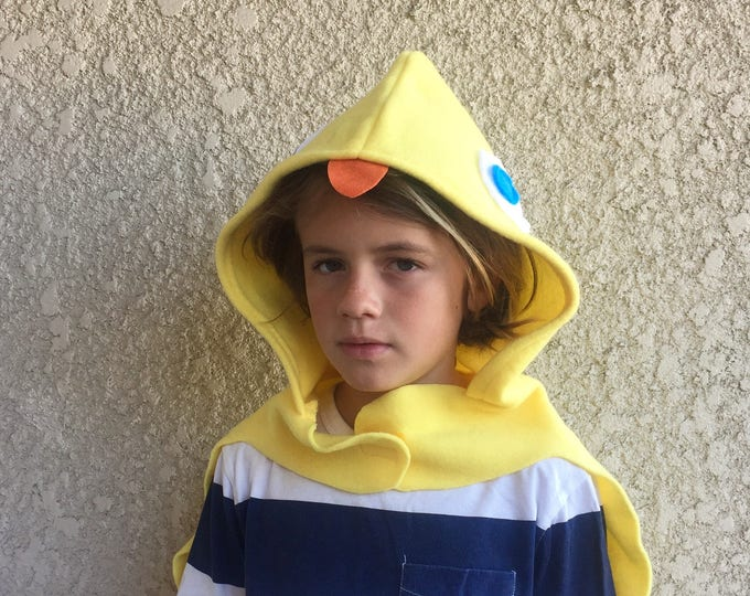 Featured listing image: Duckling Cape, Kids Halloween Bird Costume, Yellow Duck Costume, Ready to Ship