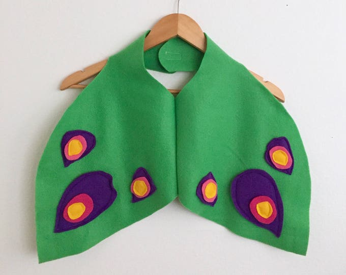 Featured listing image: Peacock Wings Cape, Kids Halloween Wings Costume, Dress Up Wings, Ready to Ship
