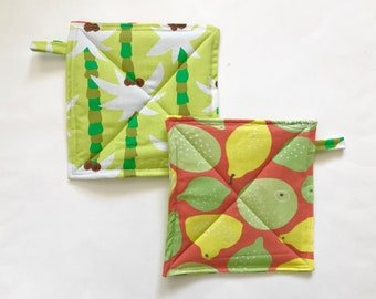 Citurs Tropical Potholder Set, Potholders, Hostess Gift, Foodie