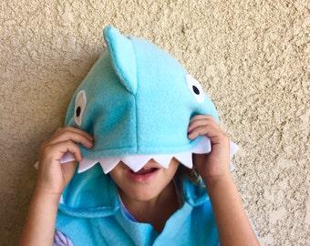 Blue Shark Cape, Halloween Costume or Dress Up Cape