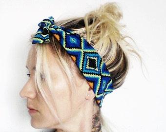 Top Knot Headband, Geometric Print, Knotted Headband, Infant Headband, Toddler Headband, Kids Headband, Newborn Headband