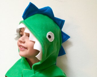 Green Dinosaur Cape, Kids Halloween Costume, Dinosaur Costume, Dragon Cape, Pretend Play Costume