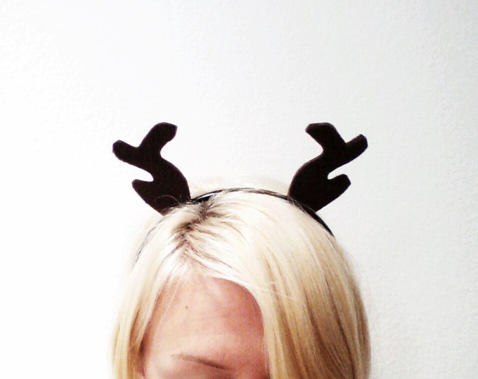 Featured listing image: Deer Antlers Headband, Reindeer Headband
