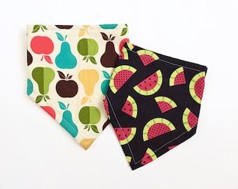 Fun Fruit Bandana Bib Set for Baby, Bibdana Baby Shower Gift Set