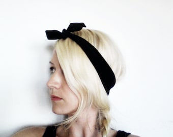 The Top Knot Headband- In Black