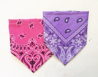 Purple and Pink Bandana Bib for Baby, Bibdana, Baby Shower Gift
