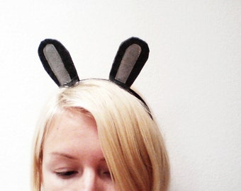 Bunny Rabbit Headband, Custom Bunny Ears, Halloween Rabbit Ears