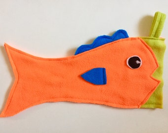 Orange Fish Stocking, Christmas Stocking
