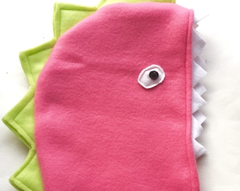 Pink Dinosaur Cape, Halloween Costume or Dress Up Cape for all ages