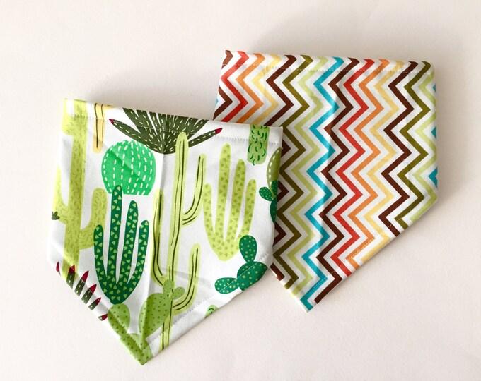 Featured listing image: Bandana Bibs for Baby - Cactus Set, Bibdana's, Baby Shower Gift