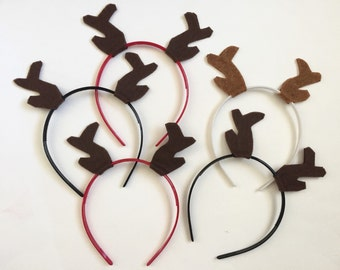 Antler Headband Pack, Photo Booth Props,  Lumberjack Party, Woodland Party Favors