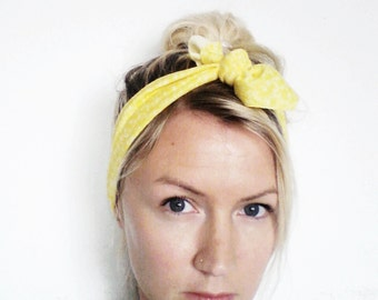 The Top Knot Headband- In Yellow