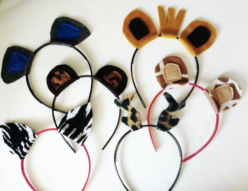 Circus Animal Headband Pack Photo Booth Props
