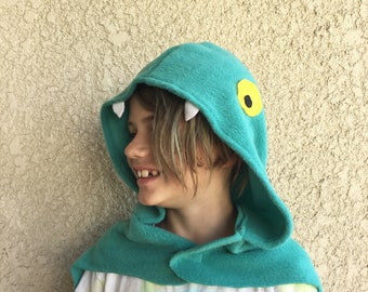 Eel Cape, Electric Eel Cape, Halloween Costume or Dress Up Cape
