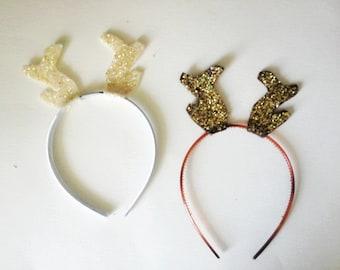 Glitter Deer Antlers Headband