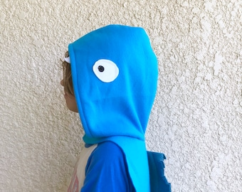 Blue Eel Cape, Electric Eel Cape, Halloween Costume or Dress Up Cape