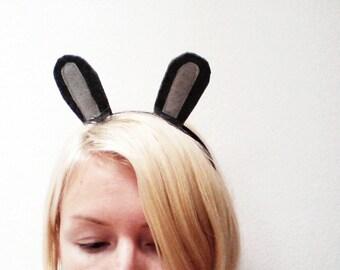 Bunny Rabbit Headband, Custom Bunny Ears, Halloween Rabbit Ears