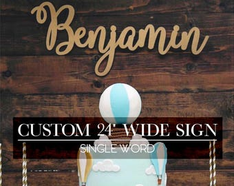"""Personalized Laser Cut Sign 24"""" wide"""