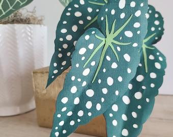 Begonia Maculata Polka Dot TEMPLATE SVG (Digital file only)