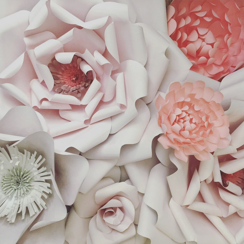 7 Paper Flower Wall Decoration image 0